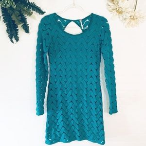 Free People Crochet Turquoise Dress